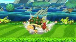 Ataque Smash hacia arriba de Bowser (2) SSB4 (Wii U)