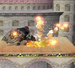 Ataque fuerte hacia arriba de Ganondorf (2) SSBM
