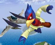 Falco y un Arwing SSBM