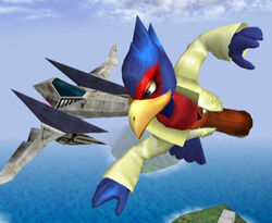 Falco y un Arwing SSBM