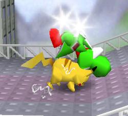 Lanzamiento trasero de Pikachu (1) SSB