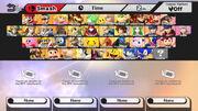 Personajes iniciales SSB4 (Wii U)