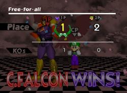 Pose de victoria de Captain Falcon (2-2) SSB