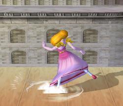 Ataque Smash hacia abajo de Zelda (1) SSBM