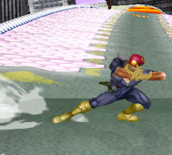 Ataque Smash lateral de Captain Falcon SSBM