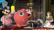 Dr. Mario, Jigglypuff, Toon Link y Zelda en Mansion de Luigi SSB4 (Wii U)