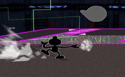 Lanzamiento hacia adelante Mr. Game & Watch (3) SSBM