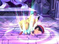 Lanzamiento inferior Pikachu SSBB