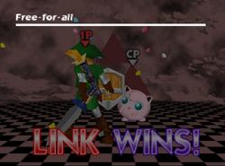 Pose de victoria de Link (2-2) SSB