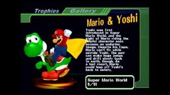 SSBM Mario & Yoshi and Samus Unmasked Trophies (Unused only on USA PAL) -Read Description-