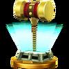 Trofeo de Martillo dorado SSB4 (Wii U)