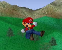Ataque aéreo normal de Mario SSBM