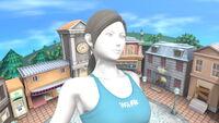 Entrenadora de Wii Fit en Sobrevolando el pueblo SSBU