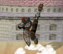 Ataque Smash hacia arriba de Ganondorf (2) SSBM