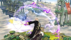 Ataque aéreo hacia arriba Robin SSB4 (Wii U)