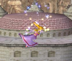 Ataque aéreo normal de Zelda SSBM