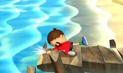Ataque de recuperación desde el borde Aldeano SSB4 (3DS)