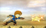 Espachín Mii Shuriken de luz SSB4 (3DS)