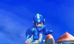 Ataque aéreo hacia abajo de Mega Man SSB4 (3DS)