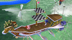 Barco volador de Rainbow Ride en SSBB