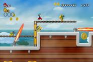 Mario y varios Mechakoopas en New Super Mario Bros. Wii