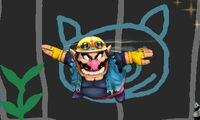 Ataque aéreo normal de Wario (2) SSB4 (3DS)