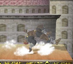 Ataque de recuperación de cara al suelo de Ganondorf (2) SSBM
