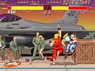 Ken usando Shoryuken en Street Fighter II