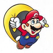Mario y su capa Super Mario World