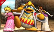Rey Dedede, Peach y Zelda en el Valle Gerudo SSB4 (3DS)