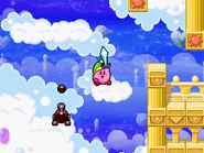 Shotzo disparando a Kirby en Kirby Super Star Ultra