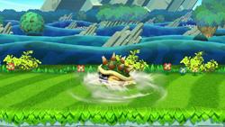 Ataque Smash hacia abajo de Bowser (2) SSB4 (Wii U)