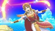 Ataque aéreo normal Zelda SSBU