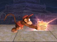 Ataque fuerte inferior Diddy Kong SSBB