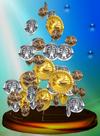 Trofeo Monedas Smash SSBM