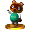 Trofeo de Tom Nook SSB4 (3DS)