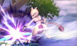 Ataque Smash hacia abajo Mewtwo (2) SSB4 (3DS)