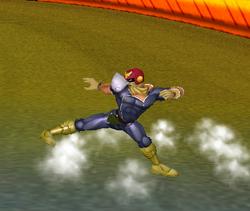 Ataque Smash hacia abajo de Captain Falcon (2) SSBM