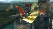Ataque aéreo normal de Ike (1) SSB4 (Wii U)