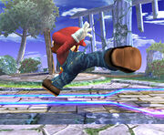 Ataque fuerte lateral Mario SSBB