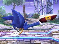 Ataque fuerte lateral Sonic SSBB