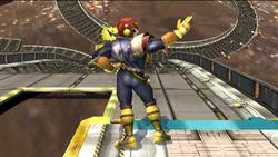 Burla hacia abajo de espaldas Captain Falcon SSBB
