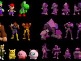 Equipo de polígonos luchadores