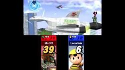 Super Smash Bros 4 (3DS) Ness Corneria Arwing Laser Glitch