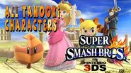 Super Smash Bros for 3DS All Character with super Leaf