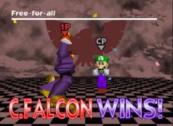 Pose de victoria de Captain Falcon (2-1) SSB