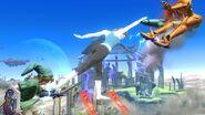 Ataque aereo de Entrenadora de Wii Fit SSB4 (Wii U)