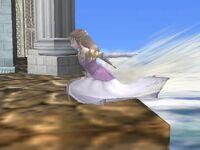 Ataque de recuperación de borde Zelda SSBB (2)