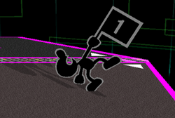 Ataque fuerte hacia arriba Mr. Game & Watch (1) SSBM