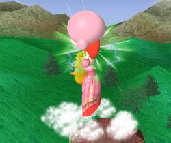 Lanzamiento hacia arriba de Peach (2) SSBM
